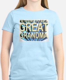 going to be a great grandma Women's Pink T-Shirt