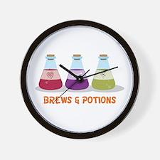 Brews & Potion Wall Clock