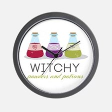Witchy Powders & Potions Wall Clock