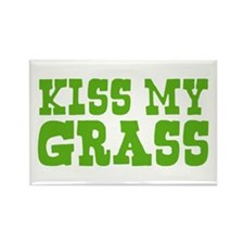 Kiss My Grass Gardening Rectangle Magnet