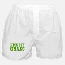 Kiss My Grass Gardening Boxer Shorts