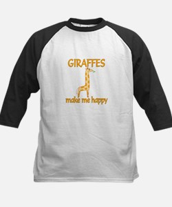 Giraffe Happy Kids Baseball Jersey