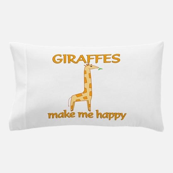 Giraffe Happy Pillow Case