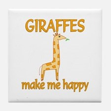 Giraffe Happy Tile Coaster