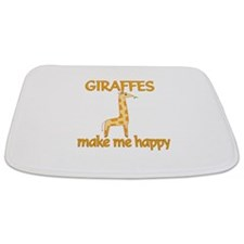 Giraffe Happy Bathmat