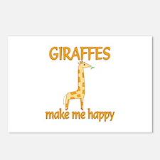 Giraffe Happy Postcards (Package of 8)