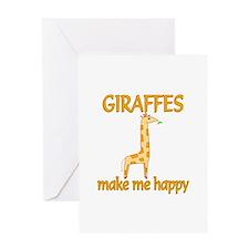 Giraffe Happy Greeting Card