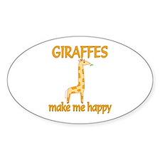 Giraffe Happy Decal