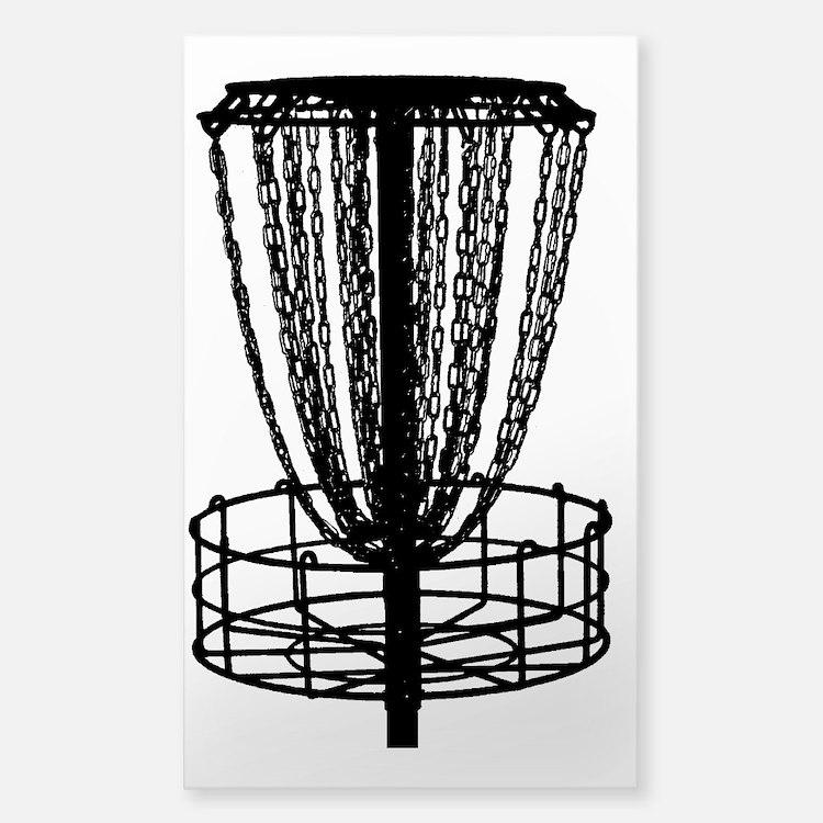 Zen Disc Golf Basket (Birdshot Sticker (Rectangle)