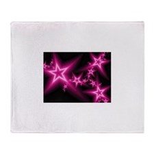 Cute Neon star Throw Blanket