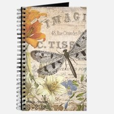 modern vintage French dragonfly Journal