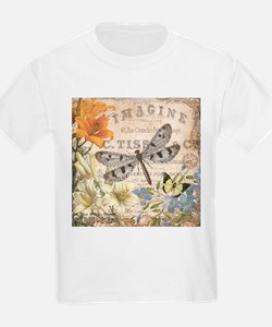 modern vintage French dragonfly T-Shirt