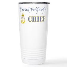 Cute Proud navy wife Travel Mug