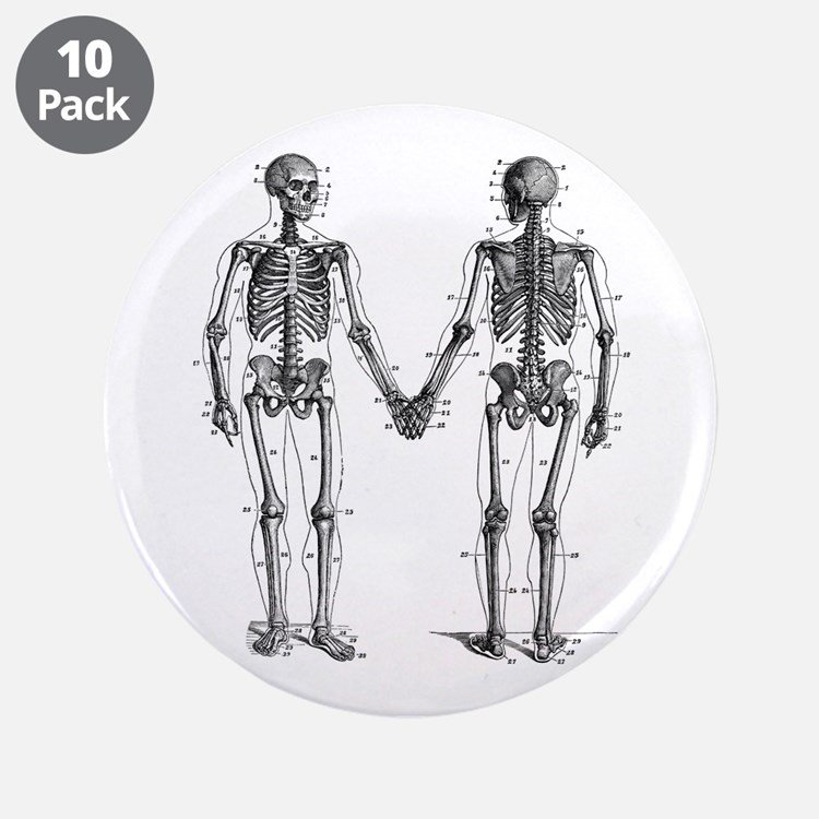 """Skeletons 3.5"""" Button (10 pack)"""