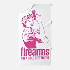 Firearms Girls Best Friend Beach Towel