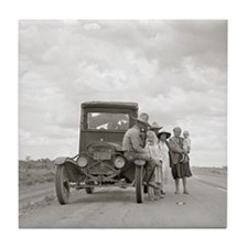 On The Road, 1937 Tile Coaster