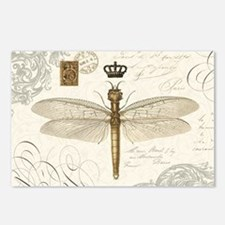 modern vintage French dragonfly Postcards (Package