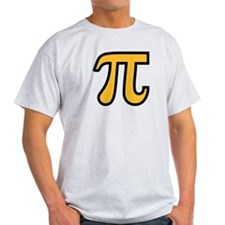 Yellow Pi symbol T-Shirt