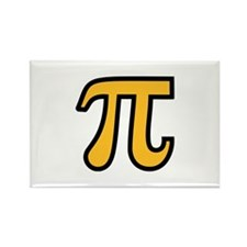 Yellow Pi symbol Rectangle Magnet