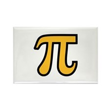 Yellow Pi symbol Rectangle Magnet (10 pack)