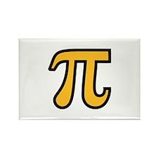 Yellow Pi symbol Rectangle Magnet (100 pack)