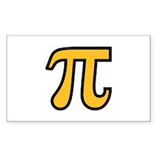 Yellow Pi symbol Decal