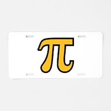 Yellow Pi symbol Aluminum License Plate