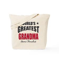 Greatest Grandma Semi-Finalist Tote Bag