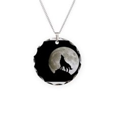 Funny Wolf and moon Necklace