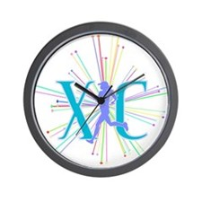 Cute Cross country running Wall Clock