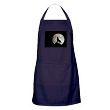 Cute Wolf moon Apron (dark)