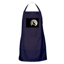 Cute Wolf Apron (dark)