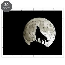 Cute Wolf and moon Puzzle