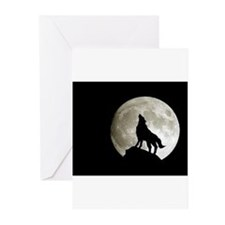 Wolf Sillhouette Greeting Cards