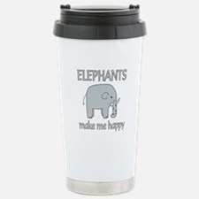 Elephant Happy Stainless Steel Travel Mug