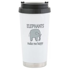 Elephant Happy Travel Mug