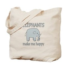 Elephant Happy Tote Bag