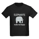 Elephants Kids T-shirts (Dark)