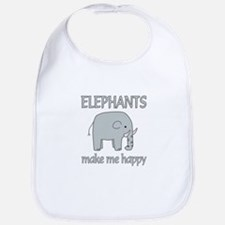 Elephant Happy Bib