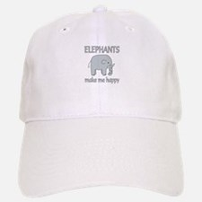 Elephant Happy Baseball Baseball Cap