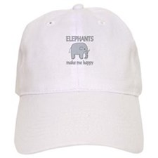 Elephant Happy Baseball Cap