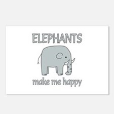 Elephant Happy Postcards (Package of 8)