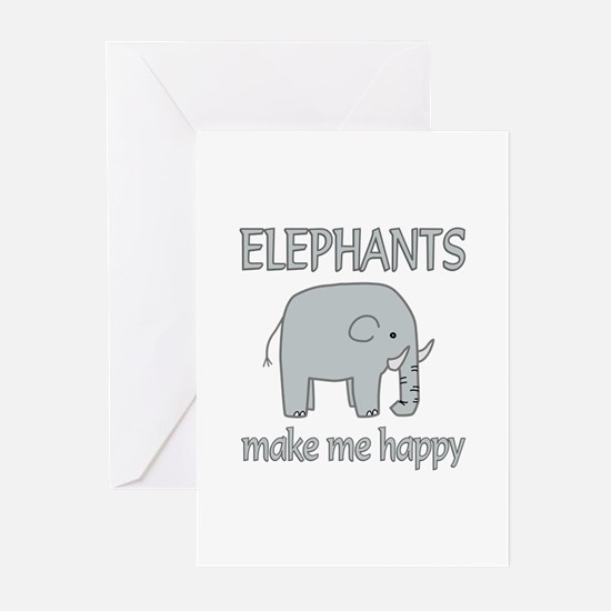 Elephant Happy Greeting Cards (Pk of 10)