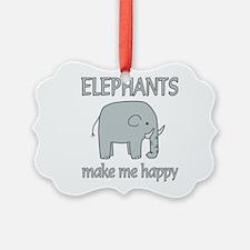 Elephant Happy Ornament