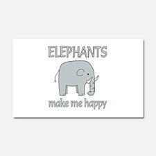 Elephant Happy Car Magnet 20 x 12