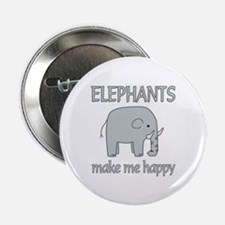 """Elephant Happy 2.25"""" Button (10 pack)"""