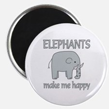 "Elephant Happy 2.25"" Magnet (100 pack)"