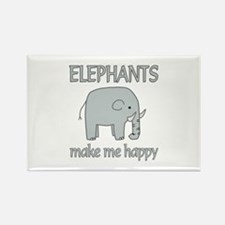 Elephant Happy Rectangle Magnet (100 pack)