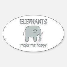 Elephant Happy Decal
