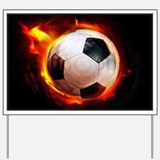 Hot Soccer Ball Yard Sign